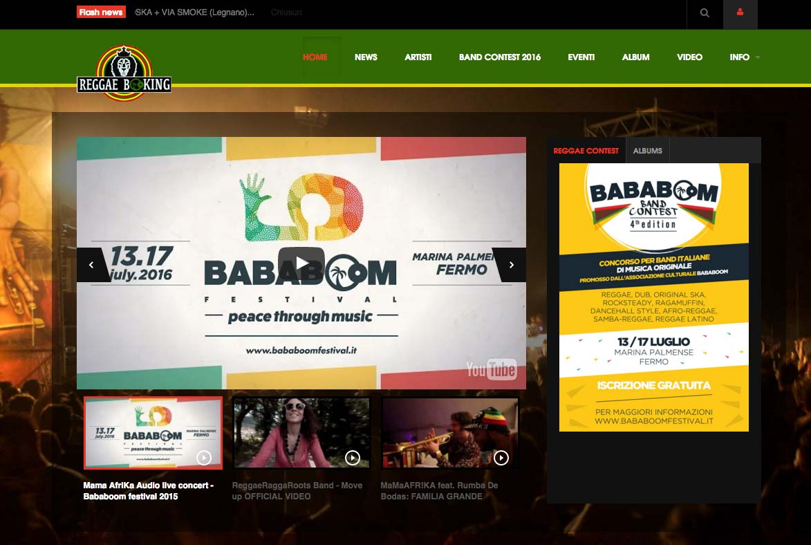 Reggae booking